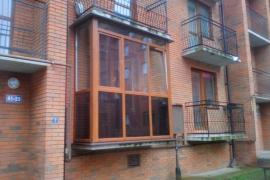 балкон Золотой дуб, г. Чкаловск (стекло тонированное)