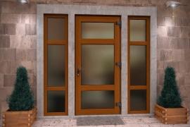 пвх дверь цветная
