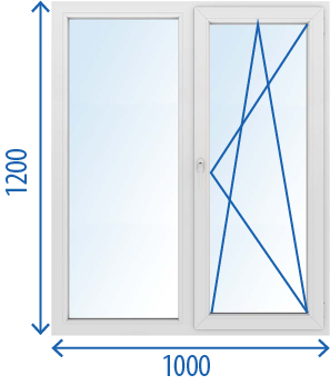 Окно 1000 x 1200 Поворотно-откидное