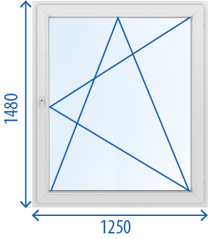 Окно 1250 x 1480 Поворотно-откидное