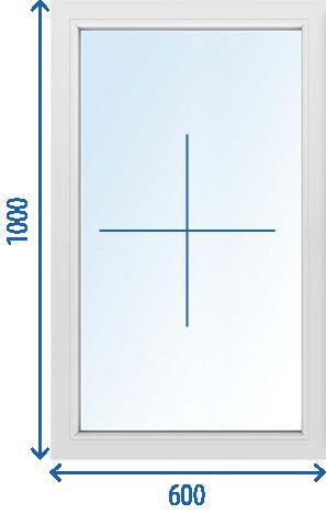 Окно 600 x 1000 Поворотно-откидное