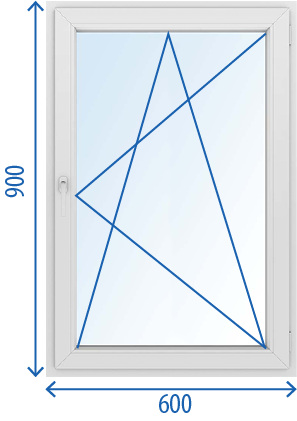 Окно 600 x 900 Поворотно-откидное